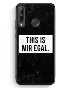 Huawei P40 lite E Silikon Hülle - This Is Mir Egal