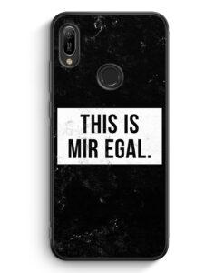 Huawei Y6s Silikon Hülle - This Is Mir Egal