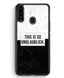 Samsung Galaxy A20s Silikon Hülle - This Is So Unglaublich