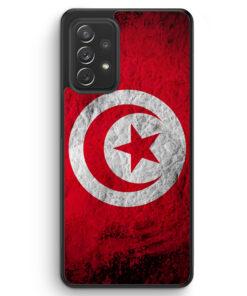 Tunesien Splash Flagge - Silikon Hülle für Samsung Galaxy A72