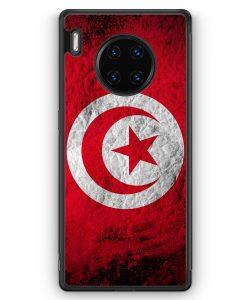 Huawei Mate 30 Pro Silikon Hülle - Tunesien Splash Flagge