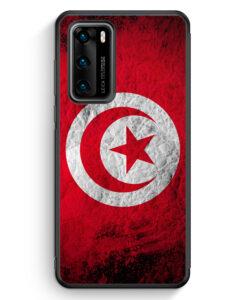 Huawei P40 Silikon Hülle - Tunesien Splash Flagge