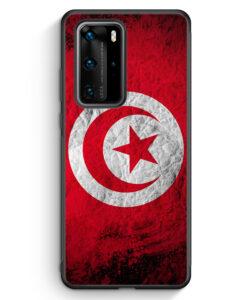 Huawei P40 Pro Silikon Hülle - Tunesien Splash Flagge