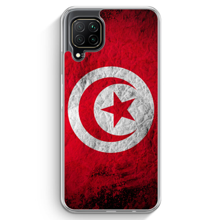 Huawei P40 lite Hülle - Tunesien Splash Flagge