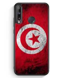 Huawei P40 lite E Silikon Hülle - Tunesien Splash Flagge