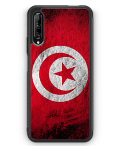 Huawei P Smart Pro Silikon Hülle - Tunesien Splash Flagge