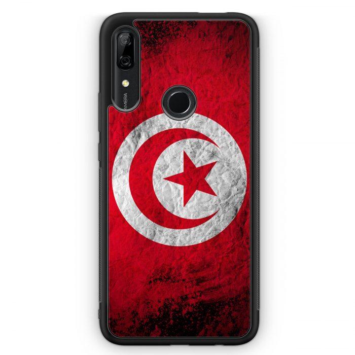 Huawei P Smart Z Silikon Hülle - Tunesien Splash Flagge