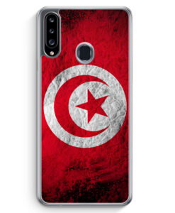 Samsung Galaxy A20s Hülle - Tunesien Splash Flagge