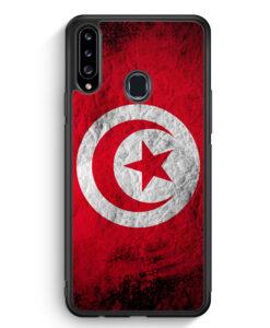 Samsung Galaxy A20s Silikon Hülle - Tunesien Splash Flagge