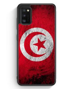Samsung Galaxy A31 Silikon Hülle - Tunesien Splash Flagge