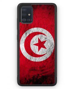 Samsung Galaxy A51 Silikon Hülle - Tunesien Splash Flagge