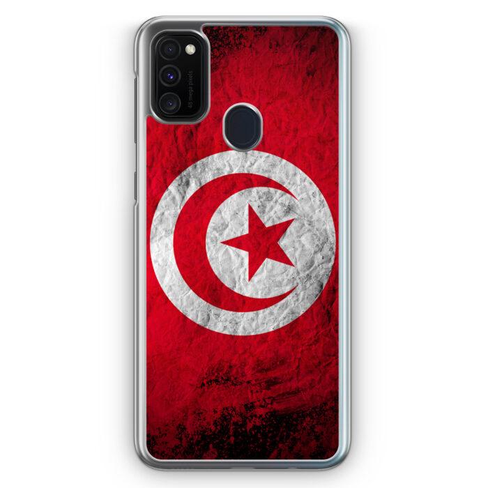 Samsung Galaxy M21 Hülle - Tunesien Splash Flagge