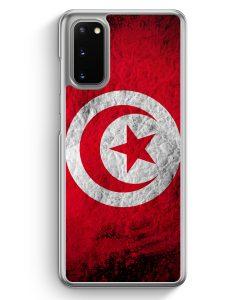 Samsung Galaxy S20 Hülle - Tunesien Splash Flagge