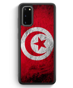 Samsung Galaxy S20 FE Silikon Hülle - Tunesien Splash Flagge