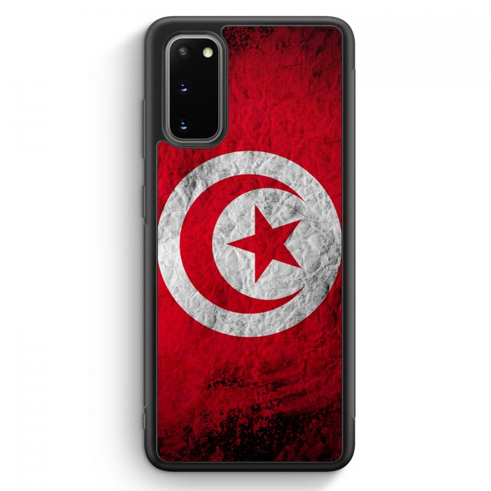 Samsung Galaxy S20 Silikon Hülle - Tunesien Splash Flagge