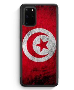 Samsung Galaxy S20+ Plus Silikon Hülle - Tunesien Splash Flagge
