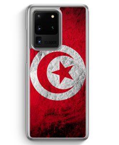 Samsung Galaxy S20 Ultra Hülle - Tunesien Splash Flagge