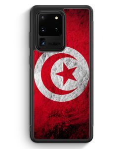 Samsung Galaxy S20 Ultra Silikon Hülle - Tunesien Splash Flagge