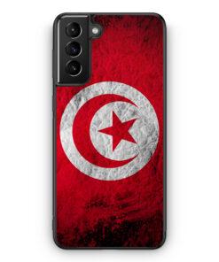 Samsung Galaxy S21+ Plus Silikon Hülle - Tunesien Splash Flagge