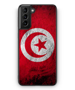 Samsung Galaxy S21 Silikon Hülle - Tunesien Splash Flagge