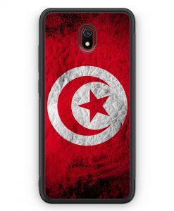 Xiaomi Redmi 8A Silikon Hülle - Tunesien Splash Flagge