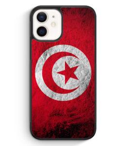 iPhone 12 Silikon Hülle - Tunesien Splash Flagge