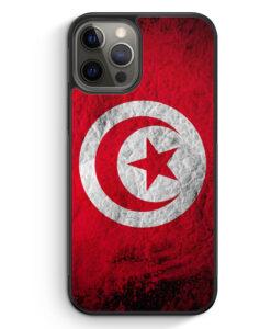 iPhone 12 Pro Max Silikon Hülle - Tunesien Splash Flagge
