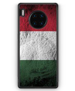 Huawei Mate 30 Pro Silikon Hülle - Ungarn Splash Flagge