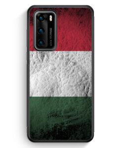 Huawei P40 Silikon Hülle - Ungarn Splash Flagge