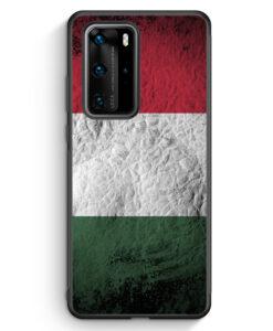 Huawei P40 Pro Silikon Hülle - Ungarn Splash Flagge