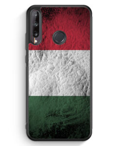 Huawei P40 lite E Silikon Hülle - Ungarn Splash Flagge