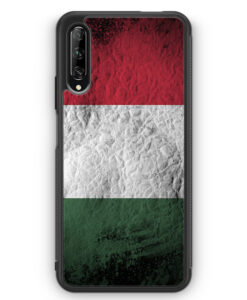 Huawei P Smart Pro Silikon Hülle - Ungarn Splash Flagge