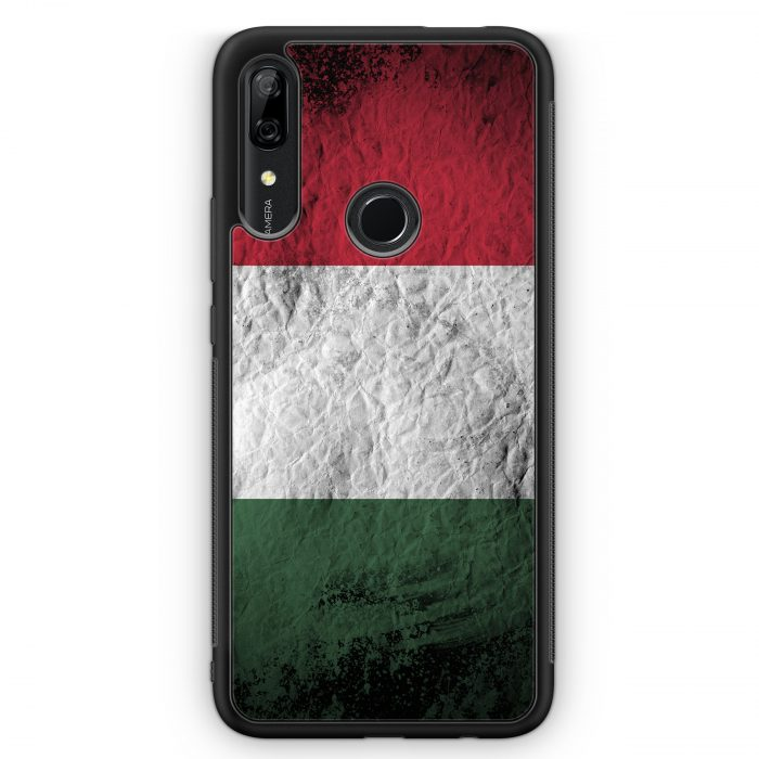 Huawei P Smart Z Silikon Hülle - Ungarn Splash Flagge