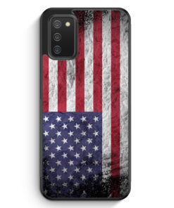 USA Amerika Splash Flagge - Silikon Hülle für Samsung Galaxy A02s