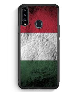Samsung Galaxy A20s Silikon Hülle - Ungarn Splash Flagge