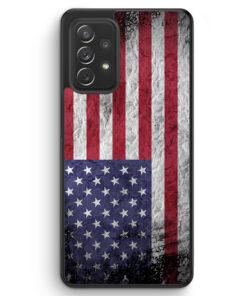 USA Amerika Splash Flagge - Silikon Hülle für Samsung Galaxy A52