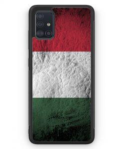 Samsung Galaxy A51 Silikon Hülle - Ungarn Splash Flagge