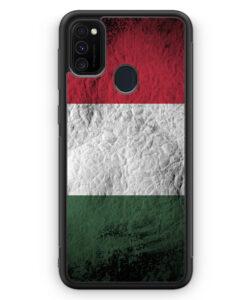 Samsung Galaxy M21 Silikon Hülle - Ungarn Splash Flagge