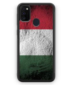 Samsung Galaxy M30s Silikon Hülle - Ungarn Splash Flagge