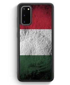 Samsung Galaxy S20 Silikon Hülle - Ungarn Splash Flagge