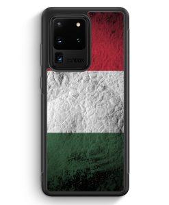 Samsung Galaxy S20 Ultra Silikon Hülle - Ungarn Splash Flagge