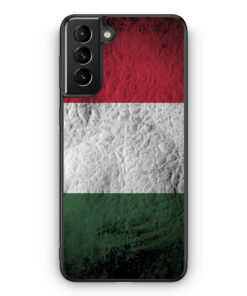 Samsung Galaxy S21 Silikon Hülle - Ungarn Splash Flagge