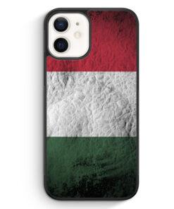 iPhone 12 mini Silikon Hülle - Ungarn Splash Flagge