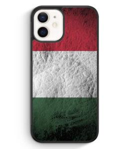 iPhone 12 Silikon Hülle - Ungarn Splash Flagge