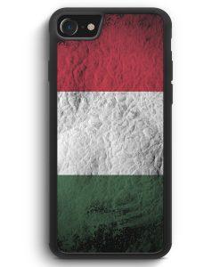 iPhone SE 2020 Silikon Hülle - Ungarn Splash Flagge