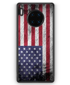 Huawei Mate 30 Pro Silikon Hülle - USA Amerika Splash Flagge