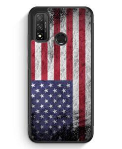 Huawei P Smart 2020 Silikon Hülle - USA Amerika Splash Flagge