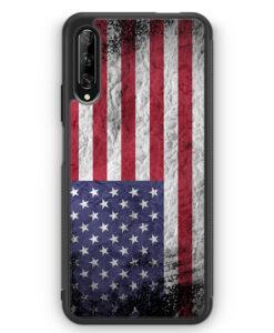 Huawei P Smart Pro Silikon Hülle - USA Amerika Splash Flagge