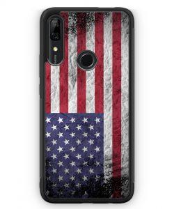 Huawei P Smart Z Silikon Hülle - USA Amerika Splash Flagge