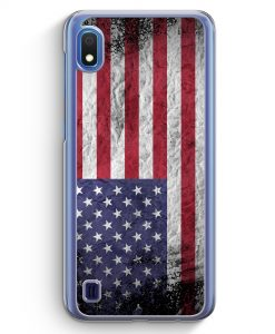 Samsung Galaxy A10 Hülle - USA Amerika Splash Flagge